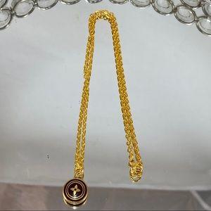 Vintage LOUIS VUITTON Flower Charm Necklace